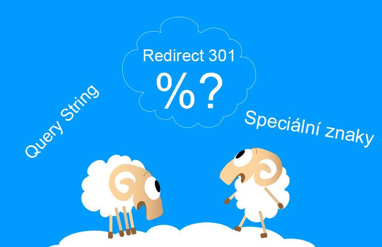 Přesměrování 301 - speciální znaky v URL (Query String)